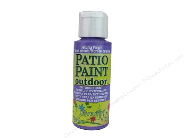 DecoArt Patio Paint Outdoor Acrylic Paint 2 oz. #29 Petunia Purple