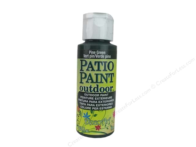 DecoArt Patio Paint Outdoor Acrylic Paint 2 oz. #4 Pine Green