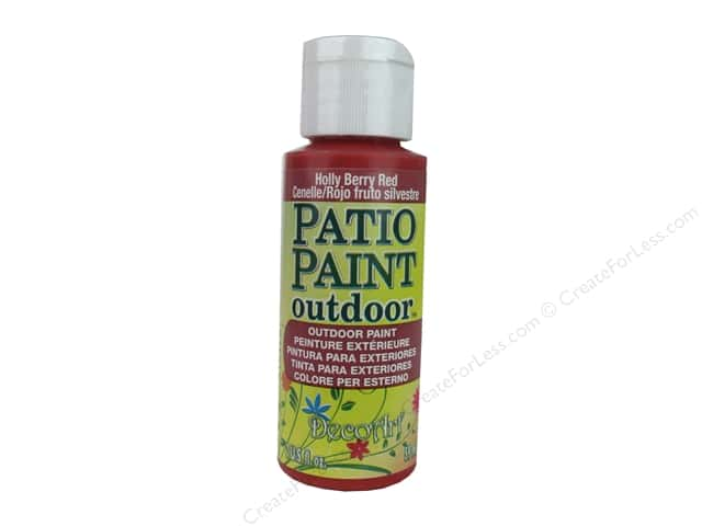 DecoArt Patio Paint Outdoor Acrylic Paint 2 oz. #43 Holly Berry Red