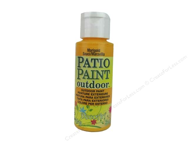 DecoArt Patio Paint Outdoor Acrylic Paint 2 oz. #57 Marigold