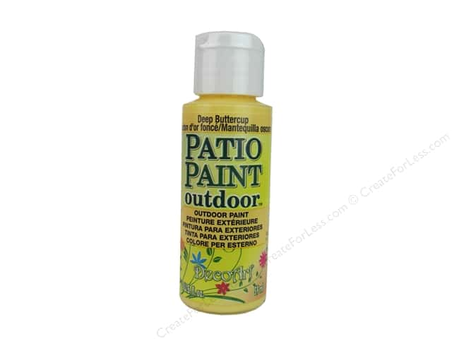 DecoArt Patio Paint Outdoor Acrylic Paint 2 oz. #60 Deep Buttercup