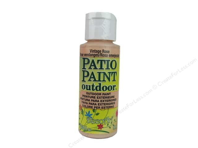 DecoArt Patio Paint Outdoor Acrylic Paint 2 oz. #61 Vintage Rose