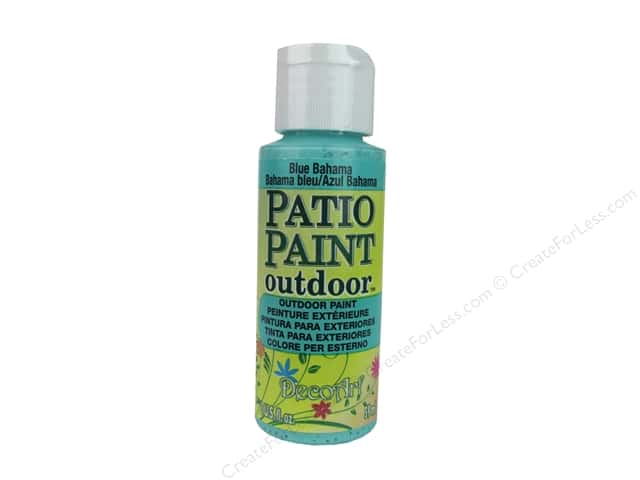 DecoArt Patio Paint Outdoor Acrylic Paint 2 oz. #63 Blue Bahama