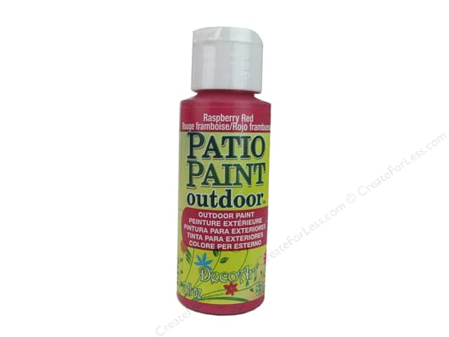 DecoArt Patio Paint Outdoor Acrylic Paint 2 oz. #64 Raspberry Red