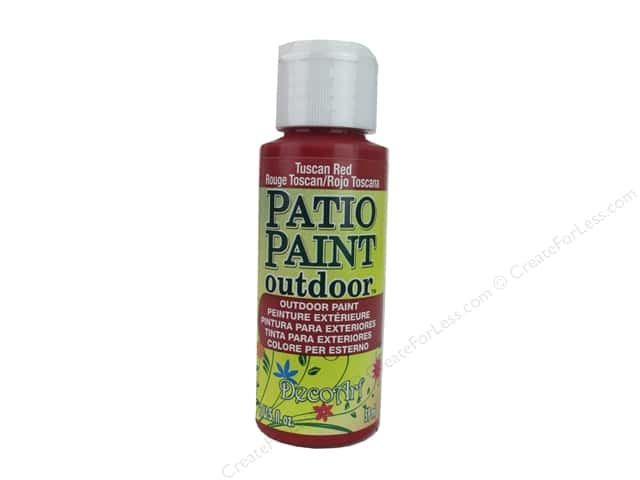 DecoArt Patio Paint Outdoor Acrylic Paint 2 oz. #65 Tuscan Red