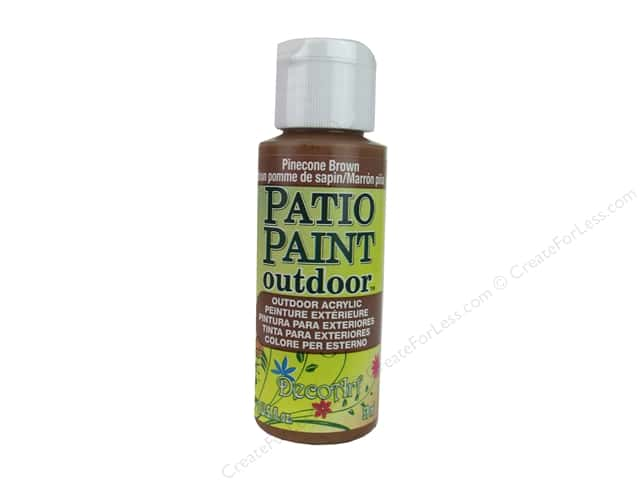 DecoArt Patio Paint Outdoor Acrylic Paint 2 oz. #01 Pinecone Brown