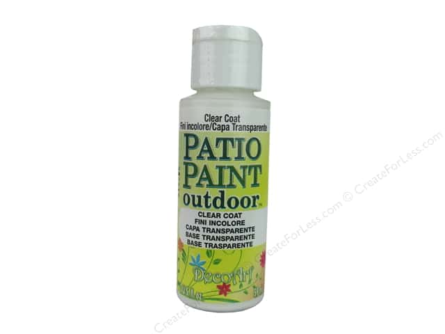 decoart patio paint 2 oz clear coat createforless