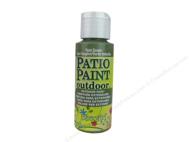 DecoArt Patio Paint Outdoor Acrylic Paint 2 oz. #3 Fern Green