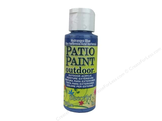 DecoArt Patio Paint Outdoor Acrylic Paint 2 oz. #33 Hydrangea Blue