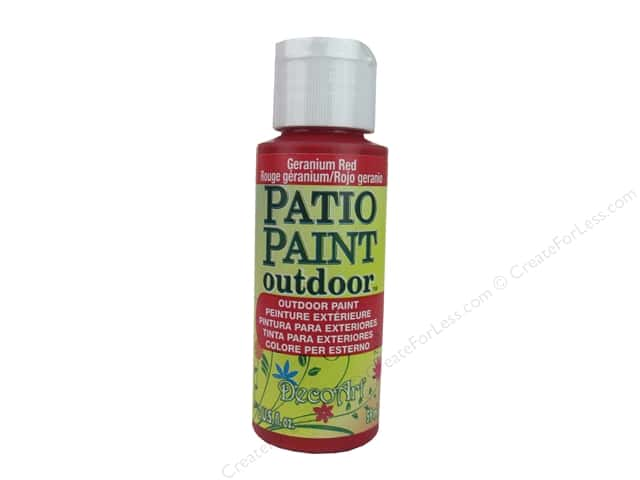 DecoArt Patio Paint Outdoor Acrylic Paint 2 oz. #7 Geranium Red