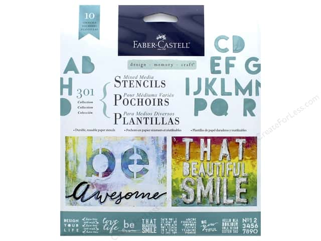 FaberCastell Mixed Media Paper Stencils Lettering