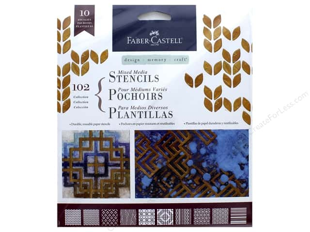 FaberCastell Mixed Media Paper Stencils Classic