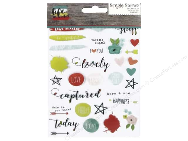 Simple Stories Collection Life In Color Sticker Clear