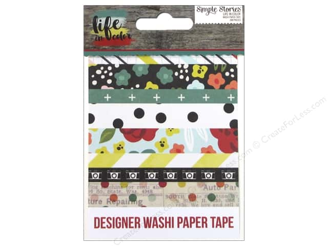 Simple Stories Collection Life In Color Washi Paper Tape