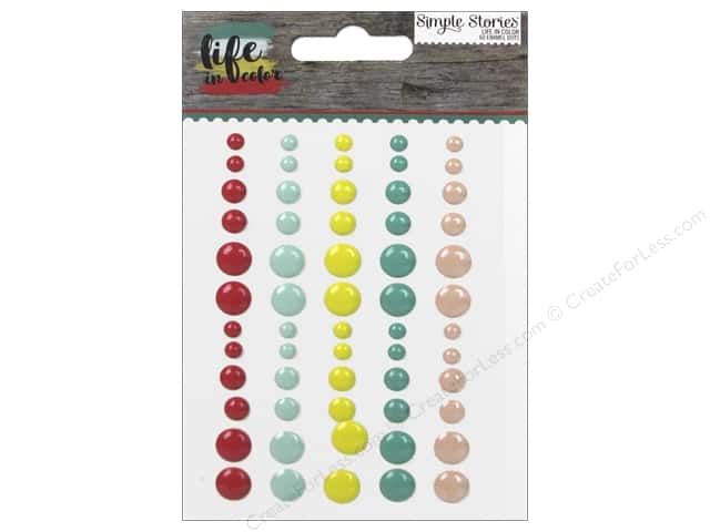 Simple Stories Collection Life In Color Enamel Dots