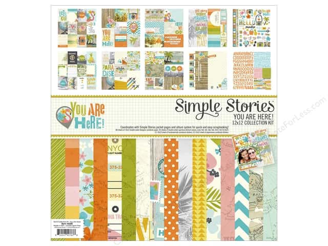 Simple Stories 12 x 12 in. Collection Kit You Are Here