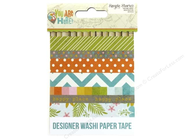 Simple Stories Collection You Are Here Washi Paper Tape