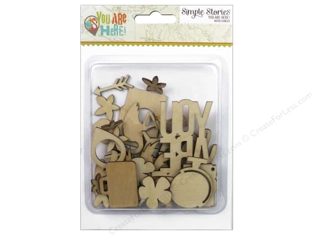 Simple Stories Collection You Are Here Wood Veneer