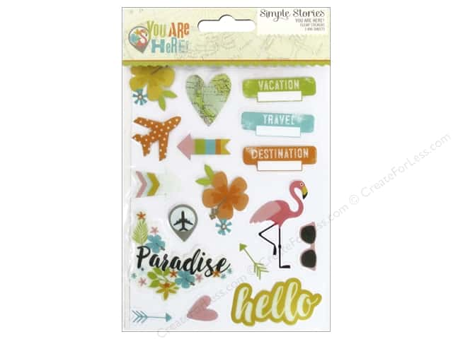 Simple Stories Collection You Are Here Sticker Clear