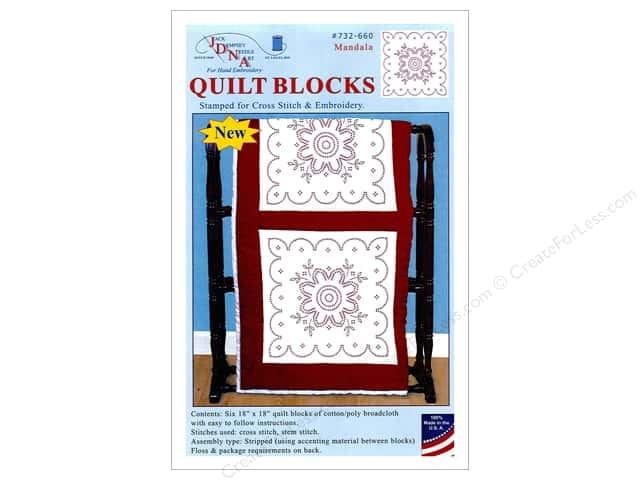 Jack Dempsey 18 in. Quilt Blocks 6 pc. Cross Stitch Mandala