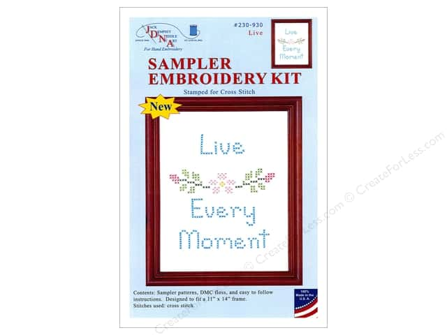 "Jack Dempsey Sampler Kit 11""x 14"" With Floss Live"
