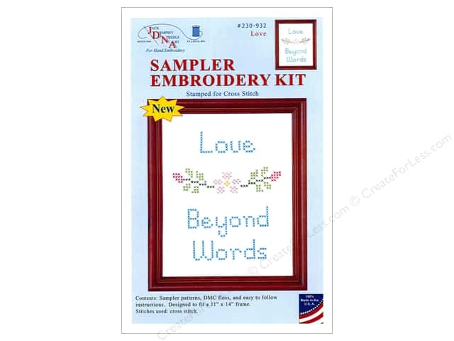 "Jack Dempsey Sampler Kit 11""x 14"" With Floss Love"