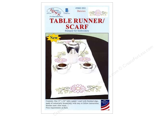 Jack Dempsey Table Runner/Scarf Daisies