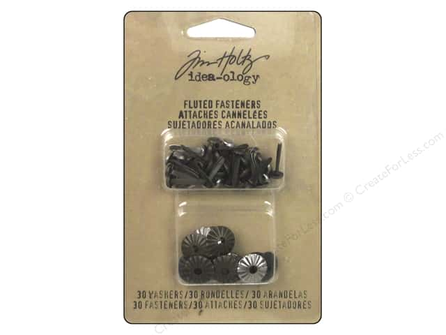 Tim Holtz Idea-ology Fluted Fasteners Silver
