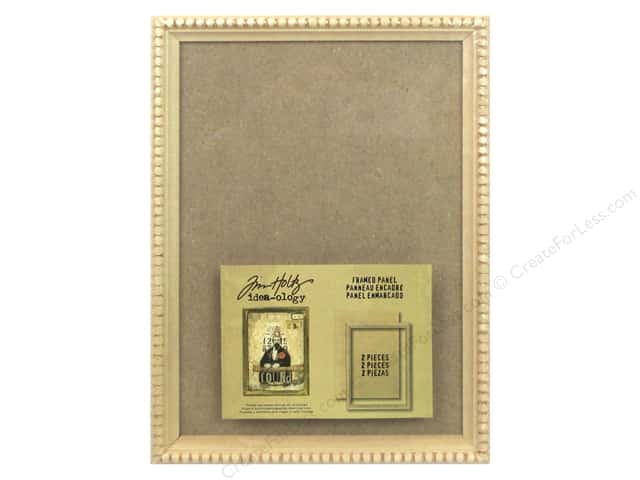 Tim Holtz Idea-ology Framed Panel Tan