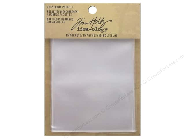 Tim Holtz Idea-ology Flip Frame Pockets Clear