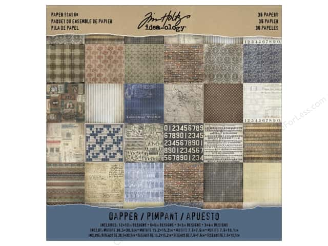 "Tim Holtz Idea-ology Paper Stash 12""x 12"" Dapper"