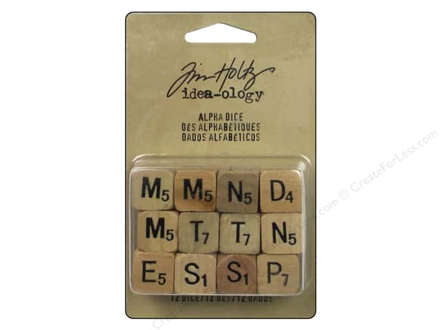 Tim Holtz Idea-ology Alpha Dice Tan