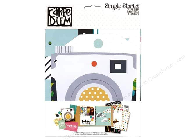 Simple Stories Collection Carpe Diem Snap Pages & Envelope