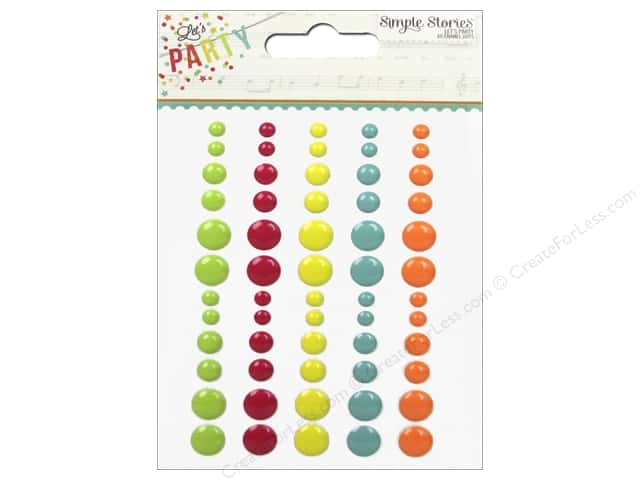 Simple Stories Enamel Dots Let's Party