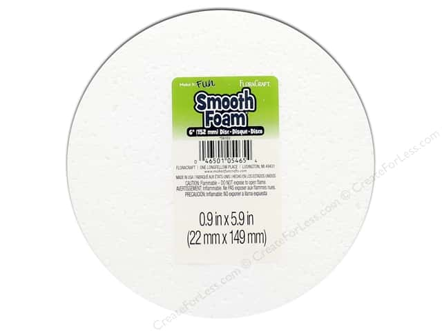 FloraCraft Smooth Foam Disc 6 x 1 in. 1 pc.