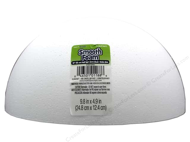 FloraCraft Smooth Foam Hollow Half Ball 9.8 in.