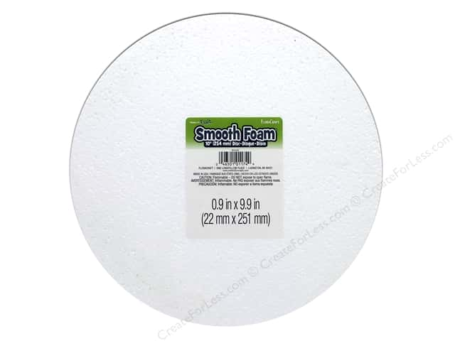 FloraCraft Smooth Foam Disc 10 x 1 in. 1 pc.