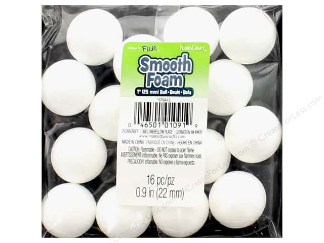 FloraCraft Smooth Foam Ball 1 in. 16 pc.