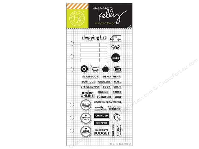 Hero Arts Poly Clear Stamp Kelly Planner Shopping