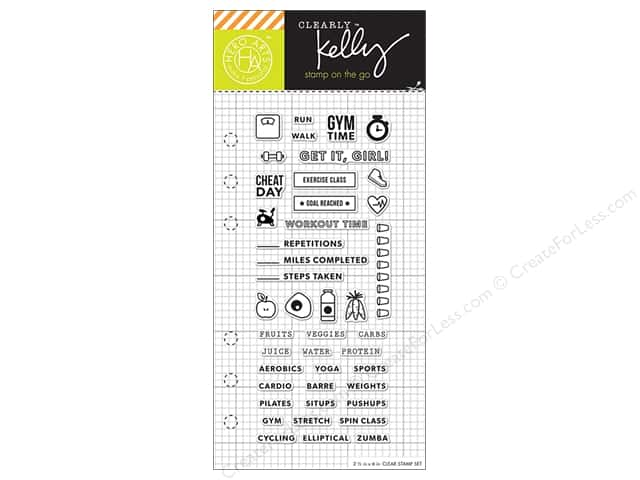 Hero Arts Poly Clear Stamp Kelly Planner Fitness