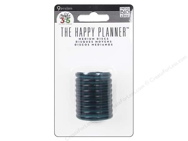 Me&My Big Ideas Create 365 Happy Planner Expander Rings Clear Teal