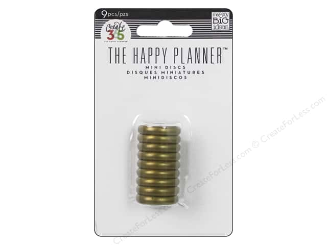 Me&My Big Ideas Create 365 Happy Planner Expander Rings Mini Gold