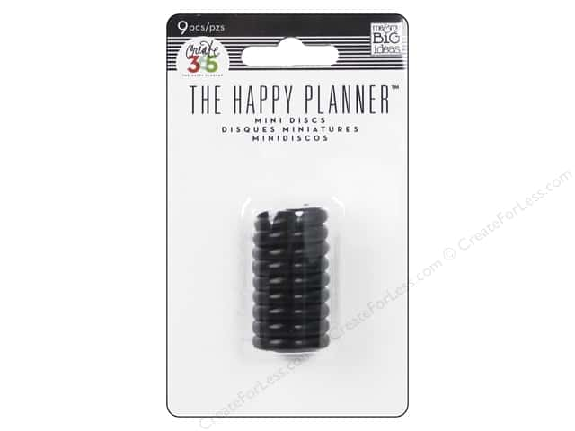 Me&My Big Ideas Create 365 Happy Planner Expander Rings Mini Black