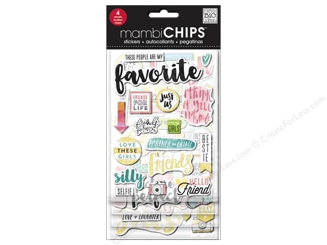 Me&My Big Ideas Sticker Designer Chipboard Chips Favorite
