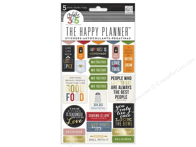 Me&My Big Ideas Create 365 Happy Planner Sticker Good Food