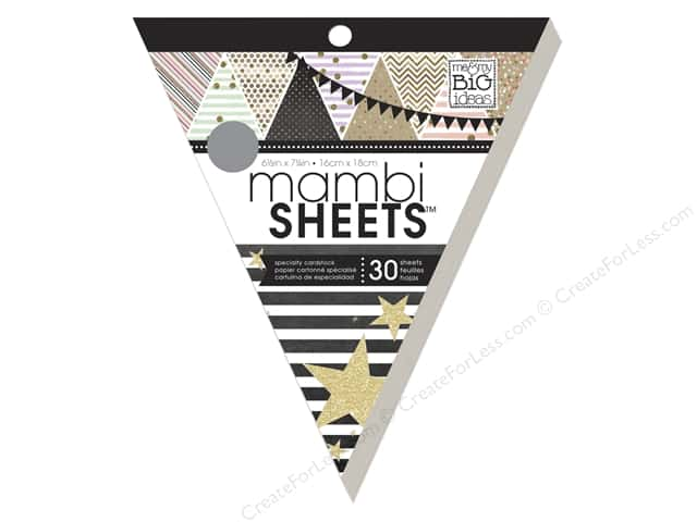 Me & My Big Ideas Sheets Cardstock Banner Pad 8 in. Gold Rush with Foil