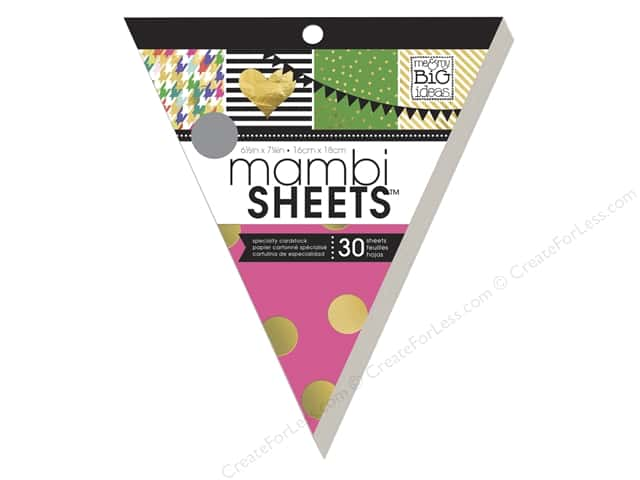 Me & My Big Ideas Sheets 8 in. Cardstock Banner Pad Big City Brights