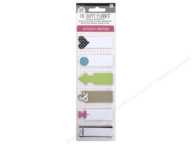 Me & My Big Ideas Create 365 Happy Planner Sticky Notes Green Arrow