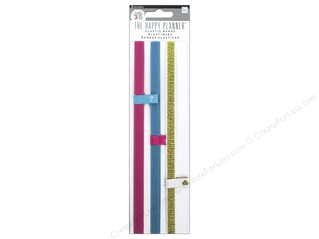 Me & My Big Ideas Create 365 Happy Planner Elastic Bands 3 pc.