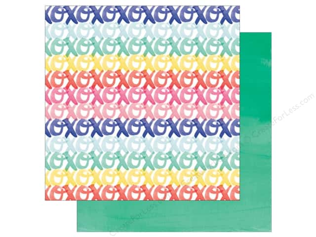 American Crafts 12 x 12 in. Paper Amy Tangerine Better Together Hugs & Kisses (25 sheets)